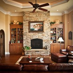 Fireplace With Built In Design, Pictures