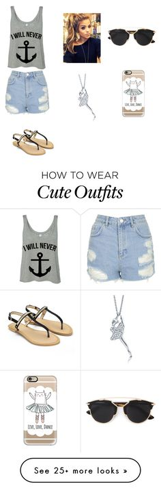 """""""Untitled #154"""" by g-jamie on Polyvore featuring Topshop, Christian Dior, Casetify, BERRICLE, women's clothing, women's fashion, women, female, woman and misses"""