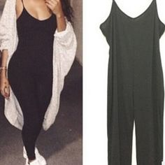 fe7d77396418 USD7.99Cheap Fashion Sleeveless Solid Black Blending One-piece Regular  Jumpsuit Affordable Clothes
