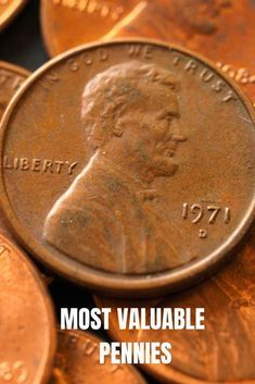 Old Pennies Worth Money, Valuable Pennies, Rare Pennies, Rare Coins Worth Money, Valuable Coins, Most Valuable Penny, Wheat Penny Value, Penny Value Chart, Rare Coin Values
