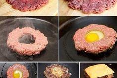 1.とろとろたまごのチーズバーガーの作り方