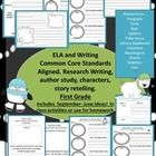 These lessons were designed to help you cover first grade Common Core State Standards in ELA and Writing.  The areas covered are Literature Study, ...