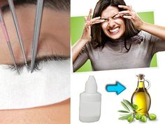 Natural at home Eyelash Extension Remover Solution For Allergic Reactions - Steam for 10mins then gently use olive oil to help remove