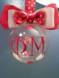 Phi Mu Christmas Ornament by MamaBern on Etsy