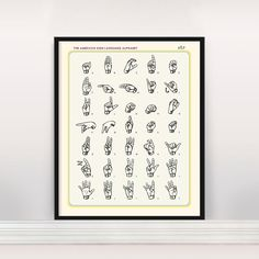 A Definitive Guide to the American Sign Language Alphabet compiled in a visually striking Mid Century Modern style and palette. This awesome info graphic poster will note only look great on your walls it will teach and help you memorize the beauty of Sign Language! This print is made on archival Heavyweight Matte Paper using archival quality inks. ********************************************************************************************************* PROMOTION!  Buy 2 Prints and Get 1…