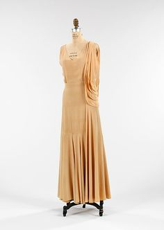 Evening dress   House of Poiret   French   1930   silk   Brooklyn Museum Costume Collection at The Metropolitan Museum of Art   Accession Number: 2009.300.1304a, b