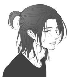 Kpop Drawings, Anime Drawings Sketches, Cute Drawings, Anime Boy Sketch, Anime Art Girl, Manga Art, Fanart Kpop, Boy Illustration, Cool Anime Guys