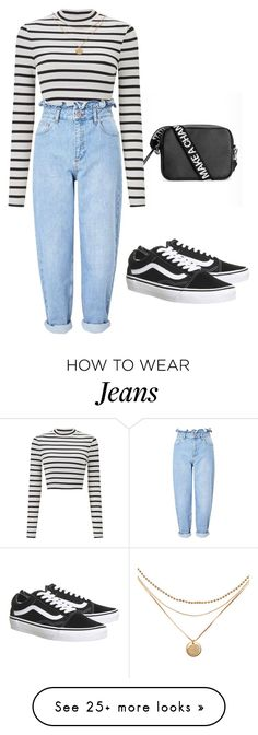 """These jeans are amazing!!!"" by alexxandrajade on Polyvore featuring Miss Selfridge and Vans"