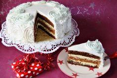 Retete Culinare - Tort cu bezea de nuca si cafea
