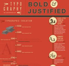 Typography bold and justified infographic