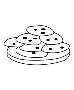 a portion of the chocolate cookie still warm coloring pages cookie coloring pages kidsdrawing