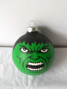 Avengers Hulk Painted Christmas Ornament.