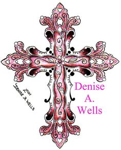 2011 Cross tattoo by Denise A. Great Tattoos, Beautiful Tattoos, Body Art Tattoos, New Tattoos, Tatoos, Cancer Tattoos, Awesome Tattoos, Couple Tattoos, Celtic Cross Tattoos