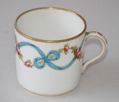 C18th EARLY C19th BILLINGSLEY  ROSES COFFEE CAN DERBY PINXTON SWANSEA PORCELAIN
