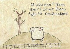 If you can't sleep, don't count sheep. Talk to the Shepherd. Cute for kids' room.