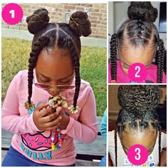 Which one of these adorable styles from is your favorite? … Which one of these adorable styles from is your favorite? Lil Girl Hairstyles, Girls Natural Hairstyles, Natural Hairstyles For Kids, Kids Braided Hairstyles, Natural Hair Styles, Toddler Hairstyles, Little Girl Braids, Braids For Kids, Girls Braids