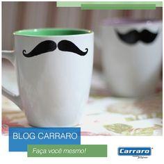 Faça Você Mesmo: Caneca Moustache  http://www.carraro.com.br/blog/caneca-moustache/