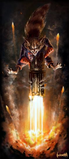 Rocket Raccoon - Created by James Bousema