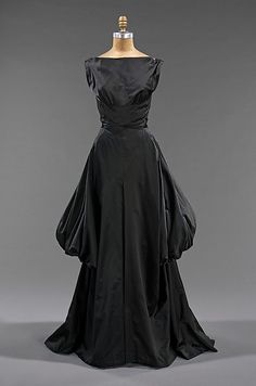 Evening dress Designer: Charles James (American, born Great Britain, 1906–1978) Date: 1948 Culture: American Medium: silk