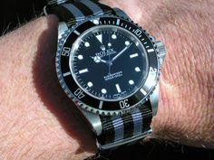 Rolex Submariner with Nato band just like James Bond's.