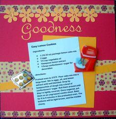 Recipe Scrapbook Pages on Pinterest | Recipe Scrapbook, Recipe Cards …
