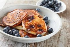 Ricotta Pancakes with Blueberry Sauce | Trim Down Club