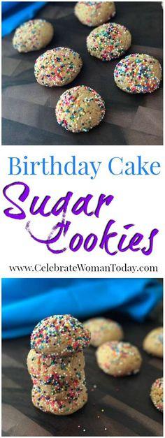 Birthday Cake Sugar Cookies for A Birthday Child Or Adult #RecipeIdeas