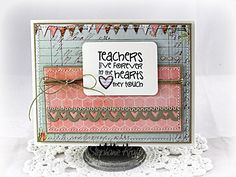 Teacher Appreciation card by Stephanie Kraft using Verve Stamps.  #vervestamps