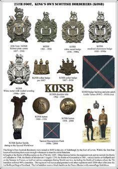 Kings Own Scottish Borderers. John Gullen Private 30997 King's Own Scottish Borderers Military Insignia, Military Art, Military History, Military Uniforms, British Army Uniform, British Armed Forces, Soldiers, Army Badges, Scotland