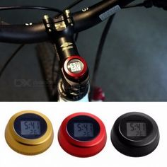 Universal Bike Waterproof Digital LCD Display Stopwatch Aluminium Alloy Cycling Bicycle Clock Easy to Install Red Bicycle Clock, Bicycle Accessories, Road Bike, Cycling, Digital, Aluminium Alloy, Biking, Display, Electronics