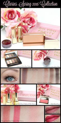 Clarins Spring 2016 Instant Glow Collection Review and Look #clarins #makeup #beauty #cosmetics Neutral Makeup, Pink Makeup, Colorful Makeup, Love Makeup, Makeup Ideas, Makeup Storage, Makeup Organization, Glossy Lips, Natural Glow
