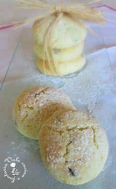 Biscottini morbidi con panna e cioccolato,ricetta semplice ma tanto gustosa ideale per i nostri bimbi come merenda