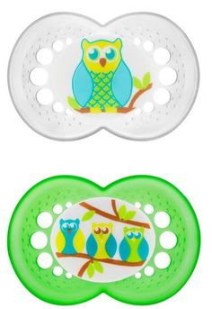 MAM Original- 6+ mo. Pacifiers- Owl and Owls on Branch  my favorite binkie brand.