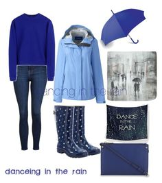 """dancing in the rain 🌂"" by salypimienta ❤ liked on Polyvore featuring Topshop, Western Chief, Acne Studios, LEXON, Lands' End, Leftbank Art and Sandro"