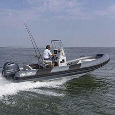 outboard inflatable boat / rigid / center console / for fishing Rib Boat, Inflatable Boat, Center Console, Ribs, Boats, Fishing, Ships, Pork Ribs, Rib Roast