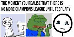 Ten moment kiedy uświadomisz sobie, że Liga Mistrzów powróci dopiero w lutym • Nastała przerwa z rozgrywkach Champions League >> #football #soccer #sports #pilkanozna