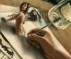 Erotic Drawing - Pic Of The Day Art Collector By Scott Davidson Surreal Artwork Erotic Artist Erotic Drawings Big Top Bondage From Paul Alazar Erotic Artist Mode. Surreal Artwork, Drawn Art, 3d Street Art, Photo D Art, 3d Drawings, Gif Animé, Cool Paintings, Pics Art, Erotic Art