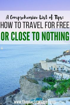 Want to travel for free but don't know how? This post describes the tips and tricks to help you lower your travel costs to zero or close to it. For the past couple of years, My family has been travelling without spending a lot thanks to what we call 'Travel-For-Free Strategies'.
