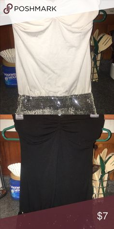 Strapless tops Strapless tops with sequins on bottom half. Never worn. Tops Blouses