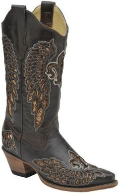 Cowgirl Boots with Hearts | Corral Angel Wing Heart Boots Black ...