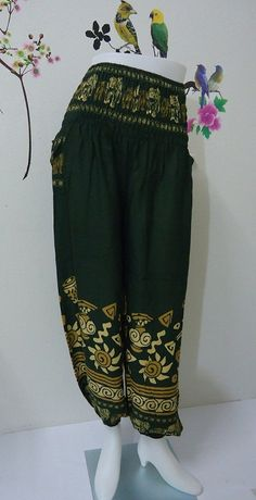 Hey, I found this really awesome Etsy listing at https://www.etsy.com/listing/190487409/olive-green-elephant-ladiess-trouser