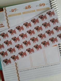 Pug Stickers for your Erin Condren Planner by PlanningMadeEasy