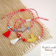 Πεταλουδιτσες  μαρτακια με επίχρυση η επαργυρη πεταλουδα , ματάκια κ φουντιτσες  #bracelets #martis #handmade #butterfly #instahandmade #greektraditions #redwhite #tassels #evileyes #fashionaccessories #sophiesworld #creations για πληροφορίες στην διάθεση σας