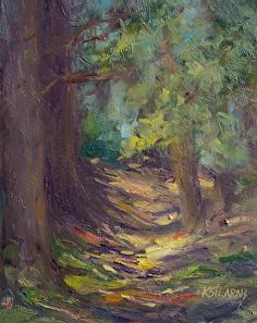 """""""Meandering Among the Redwoods"""" by Katie Stearns  ~ 10"""" x 8"""""""