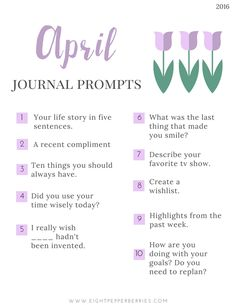 New prompts [pdf printable included] each month >> Eight Pepperberries Daily Journal Prompts, Journal Entries, Journal Topics, Blog Topics, Writing Challenge, Writing Tips, Journal Questions, Bullet Journal Inspiration, Journal Ideas