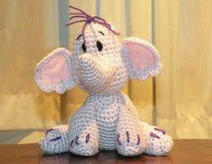 Heffalump, the elephant - CROCHET PATTERN in PDF format by siemprejosefina.  So cute =)