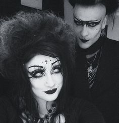 We did that thing where we got dressed up, then were too tired to go out. #cool #nanacore #goth #gothic #goths #tradgoth #motd