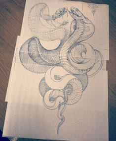 Kate 'I never get to make snakes' plissken on the copier realness at the library again . Tattoo Sketches, Tattoo Drawings, Body Art Tattoos, Dibujos Tattoo, Desenho Tattoo, Kobra Tattoo, Japanese Snake Tattoo, Snake Dragon, Jagua Henna