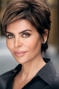 2015 Short Hairstyles Summer Short Haircut For Women Over 50 Dark Pixie With Fringe From