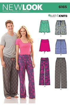 Patron N°6165 New Look : Jupe et pantalon